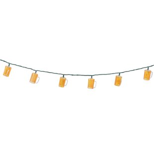 Buy clear 10-Light 8.5 ft. Beer Stein Novelty String Lights By DEI