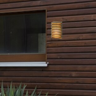 1-Light LED Outdoor Bulkhead Light by Living District