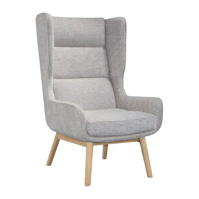 Brayden Studio Cristy Wingback Chair Upholstery Color: Gray