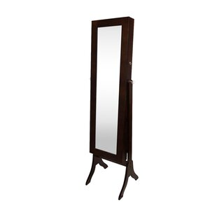 Winston Porter Attamore Free Standing Jewelry Armoire with Mirror