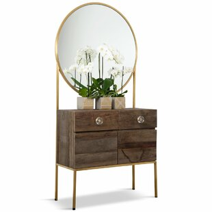 St. Germain 2 Drawer Combo Dresser with Mirror