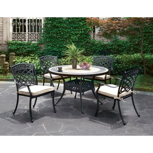 Goodwin 5 Piece Bistro Set with Cushion by Red Barrel Studio