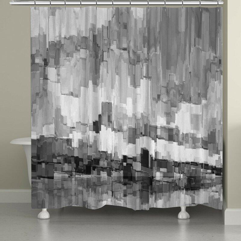 17 Stories  Vikenti Single Shower Curtain