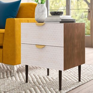 Affordable Price Moritz Honeycomb End Table with Storage by Mercury Row