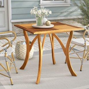 Beachcrest Home Coyne Teak Dining Table