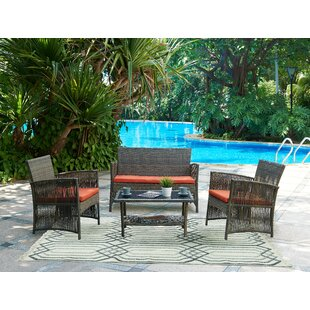 Cerys 4 Piece Sofa Set with Cushions By Beachcrest Home