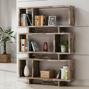 Ruben Charmed Geometric Bookcase by Union Rustic