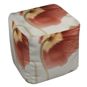 Mystic Poppy 2 Ottoman by Manual Woodworkers & Weavers