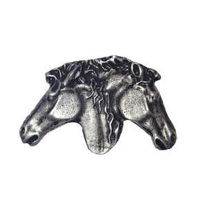 Southwest Dual Horse Heads Novelty Knob