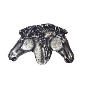 Southwest Dual Horse Heads Novelty Knob