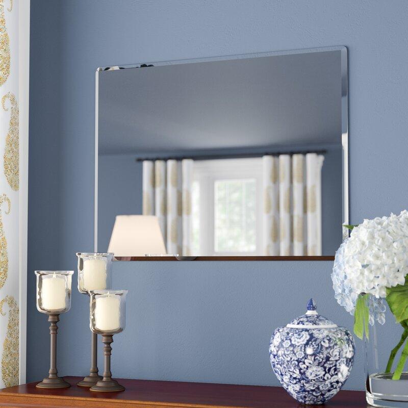 Andover Mills Rectangle Metal Frameless Wall Mirror ...