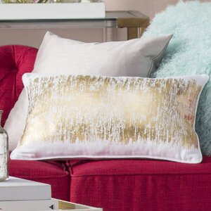 Garlan Metallic Banded Cotton Lumbar Pillow