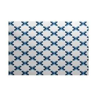 Coupon Abbie Geometric Blue Indoor/Outdoor Area Rug ByEbern Designs