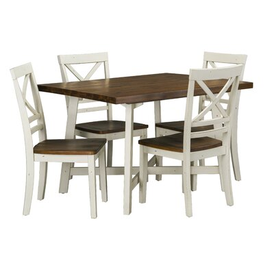 Dunnes 5 Piece Dining Set by August Grove
