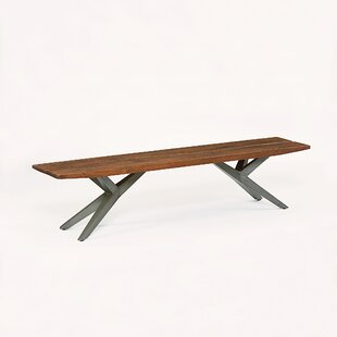 Jimena Wood Bench by 17 Stories