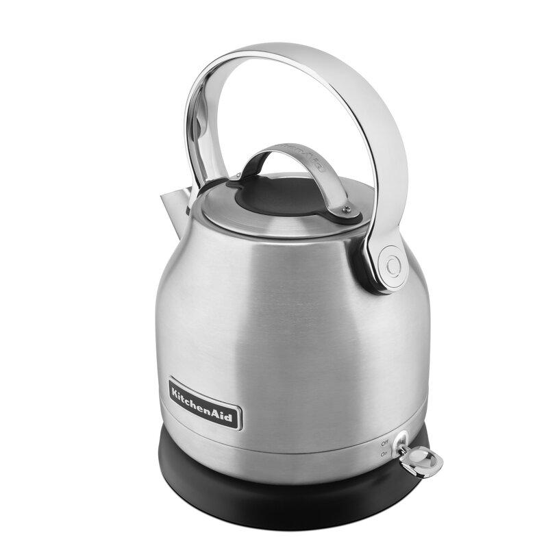 Kitchenaid Stainless Steel Electric Tea Kettle Kek Amp Reviews Wayfair