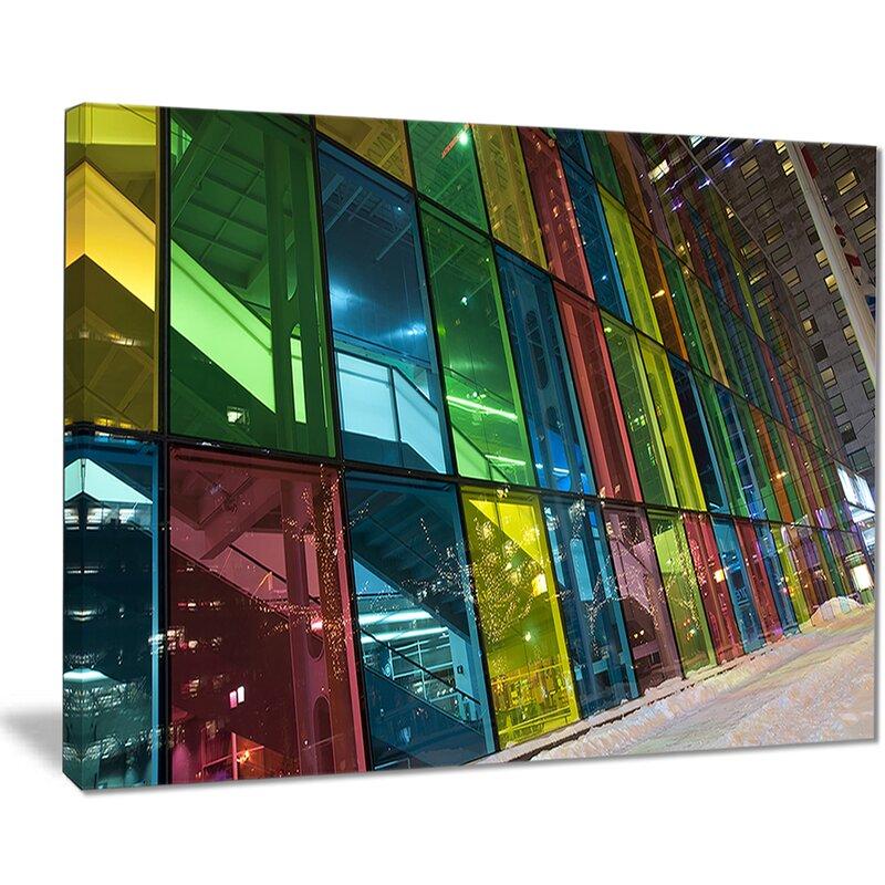East Urban Home Palais Des Congress De Montreal Photographic Print On Canvas Wayfair