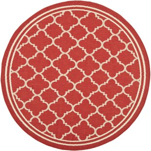 Herefordshire Red Indoor/Outdoor Power Loomed Area Rug by Winston Porter
