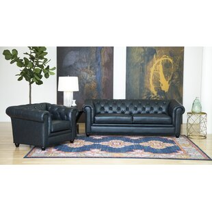 Darby Home Co Andria 2 Piece Leather Ches..