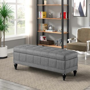 Reviews Unique Upholstered Storage Bench ByCharlton Home