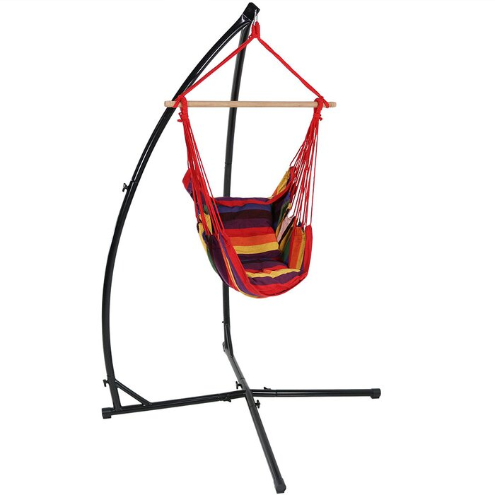 Terrific Kasandra Durable Metal Hammock Chair Stand Short Links Chair Design For Home Short Linksinfo