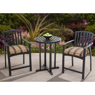 Haymeadow 3 Piece Bistro Set with Cushion by Alcott Hill