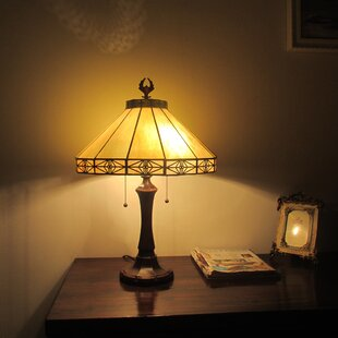 Kenneth Tiffany 2 Light Mission 24 Table Lamp