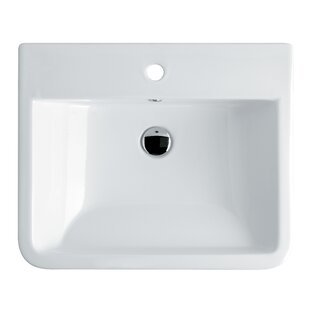 WS Bath Collections Chiante Ceramic Ceramic Rectangular Vessel Bathroom Sink with Overflow