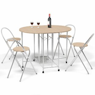 Holderman 5 Piece Counter Height Extendable Dining Set
