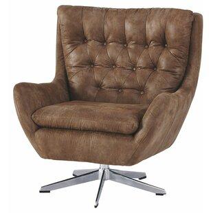 Adelheide Leatherette Swivel 21 Armchair