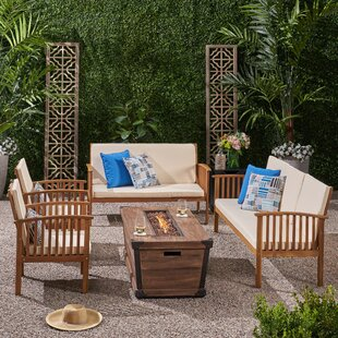 Olympia Outdoor 6 Piece Sofa Seating Group with Cushions