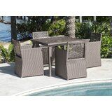 Maldives 5 Piece Dining Set with Sunbrella Cushions