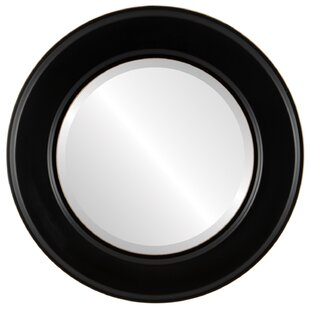 Charlton Home Woodley Framed Round Accent Mirror