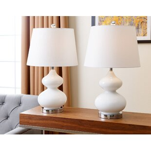 Online Reviews Patroclus 24 Table Lamp (Set of 2) By Mercury Row