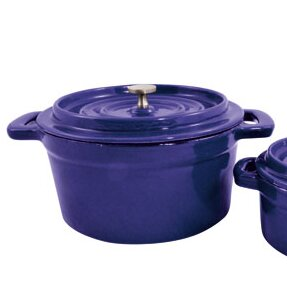 Cast Iron Round Mini Dutch Oven (Set of 2)