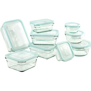 Glasslock 9 Container Food Storage Set by Glasslock Read Reviews