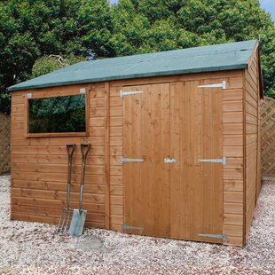 12 Ft. W X 10 Ft. D Solid Wood Garden Shed By WFX Utility