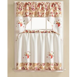 Apple Kitchen Curtains Valances & Kitchen Curtains | Wayfair