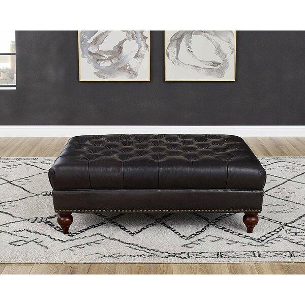 Brilliant Top Grain Leather Ottoman Wayfair Bralicious Painted Fabric Chair Ideas Braliciousco