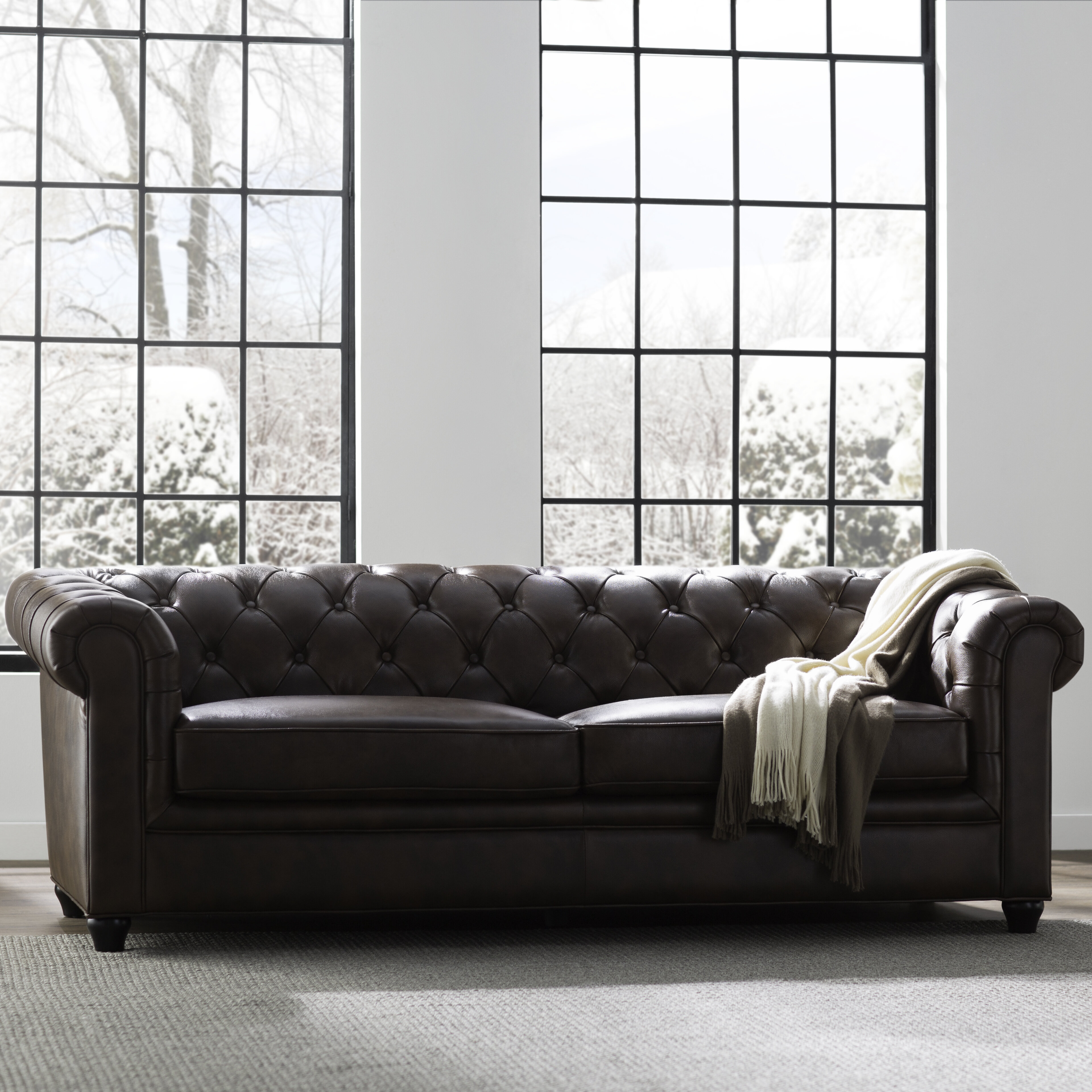 Leather Sofas And Couches You Ll Love