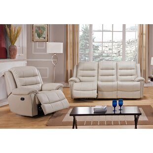 Shantell Reclining 2 Piece Leather Living Room Set by Red Barrel Studio