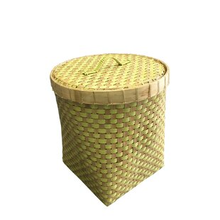 Reviews Wicker Basket with Lid By D-Art Collection
