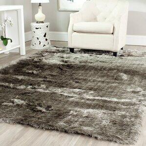 carlotta silver shag area rug