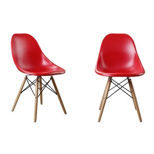 Modern Designer Plastic Dinning Side Chair (Set of 2) Attraction Design Home