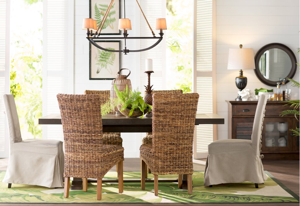 Coastal Dining Room Design Photo by Beachcrest Home