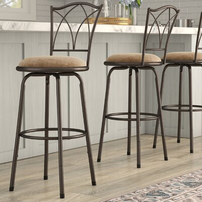 Fabulous Charlton Home Temple Meads Adjustable Swivel Bar Stool Squirreltailoven Fun Painted Chair Ideas Images Squirreltailovenorg