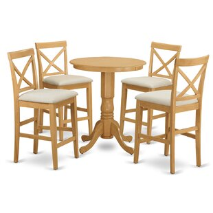 Eden 5 Piece Counter Height Pub Table Set East West Furniture