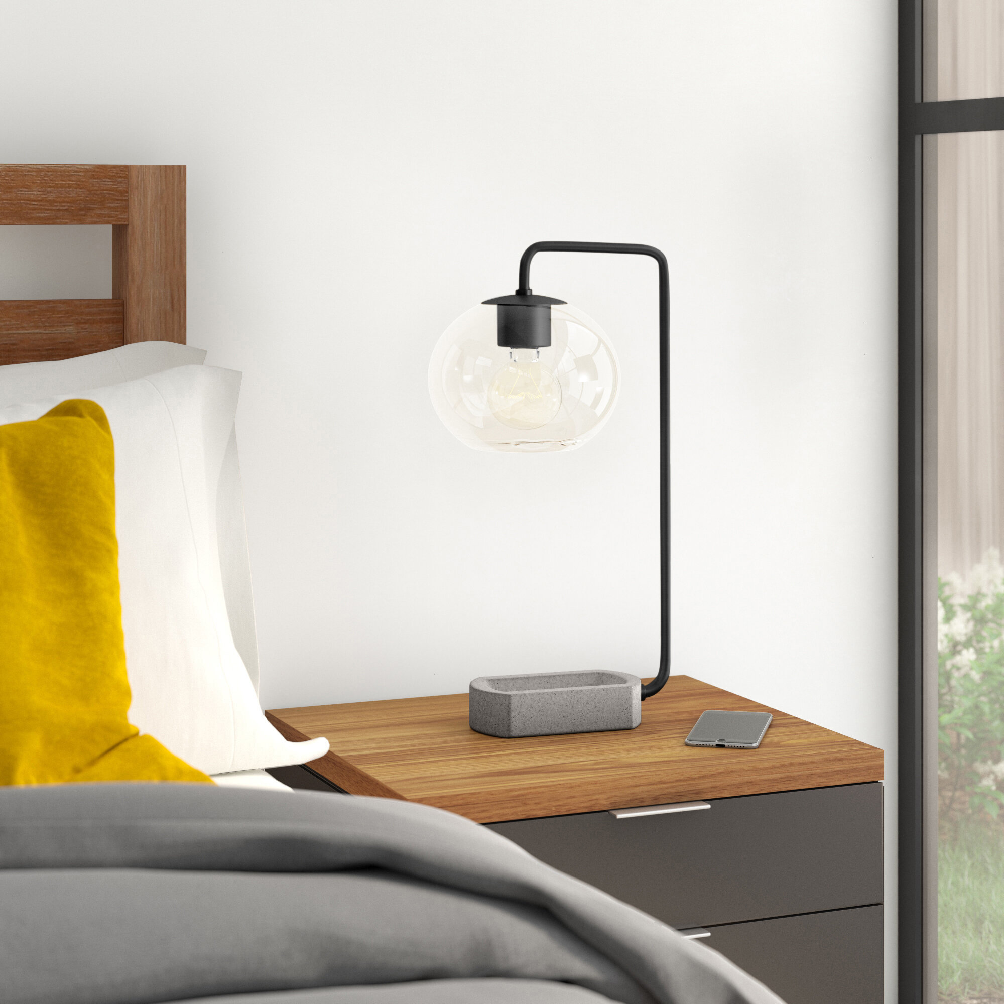Picture of: Burin 20 5 Arched Table Lamp Allmodern
