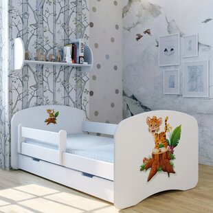 Tiger Leo Bed With Mattress And Drawer By Zoomie Kids