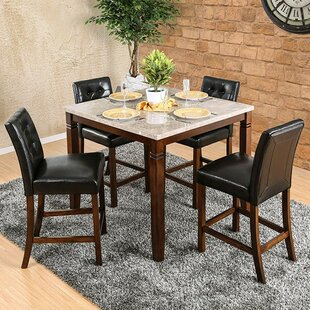 Mirfield 5 Piece Counter Height Dining Set Fleur De Lis Living